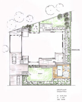 Hausgarten mit Pool